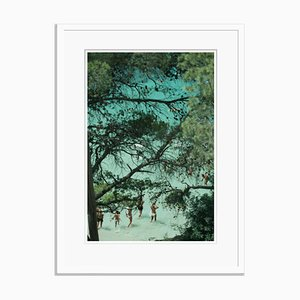 Beach Near Portinatx Oversize Archival Pigment Print Framed in White by Slim Aarons