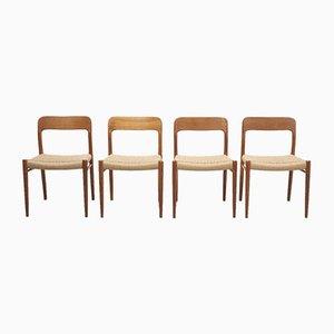 Chaises de Salon par Niels Otto Møller pour JL Møllers, 1950s, Set de 4