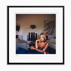 Britt Ekland Framed in Black by Slim Aarons