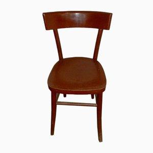 Bunter italienischer Esszimmerstuhl aus Holz, 1960er