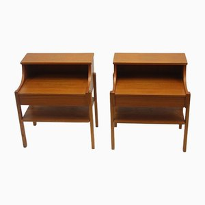 Bedside Tables from Ab Carlstrom & Co., 1966, Set of 2
