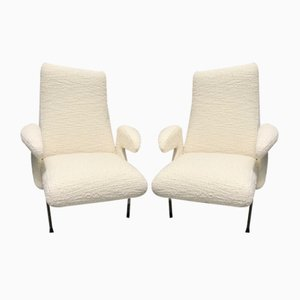 Model Delfino Armchairs by Erberto Carboni for Arflex, Italy, 1954, Set of 2