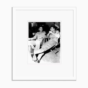 Burt Lancaster & Montgomery Clift on Set Archival Pigment Print Framed in White by Everett Collection