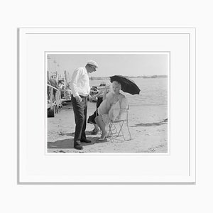 Marilyn Monroe Some Like it a Little Cooler Archival Pigment Print Framed in White by Bettmann