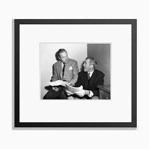 Bob Hope with Guest James Stewart Archival Pigment Print Framed in Black by Everett Collection