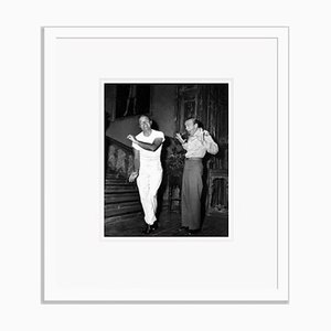 Bob Hope & Fred Astaire Dance Around Archival Pigment Print Framed in White by Everett Collection
