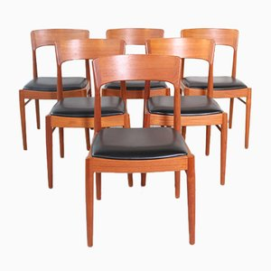 Mid-Century Side Chairs by Kjaernulf for Korup Stolefabrik, Set of 6