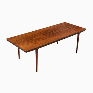 Mid-Century Rosewood Coffee Table by Severin Hansen for Haslev Møbelsnedkeri