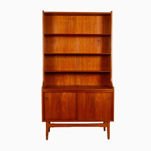 Mid-Century Modern Danish Teak Bookcase by Johannes Sorth for Nexø Møbelfabrik, 1960s