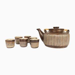 Juego de té danés vintage de Einer Hellerøe para BR Keramik, años 50. Juego de 7