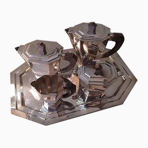 Art Deco Coffee or Tea Set, 1940s, Set of 5