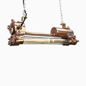 Industrielle Vintage Kupfer Deckenlampe von Daeyang