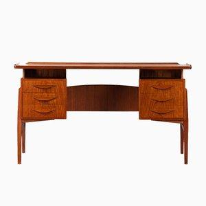 Mid-Century Modern Danish Teak Freestanding Desk, 1960s