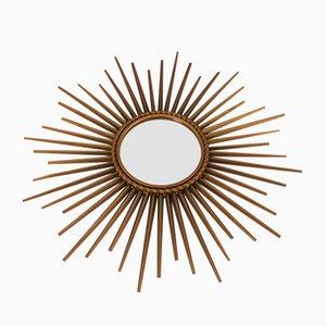 Specchio Sunburst di Chaty Vallauris AM, anni '50