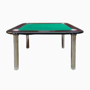Grüner italienischer Mid-Century Modern Samt Spieltisch, 1970er