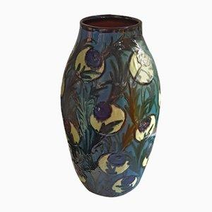 Large Schlickenmalerei Vase from Tonwerke Kandern, 1920s