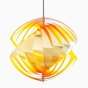Lampada da soffitto Konkylie di Louis Weisdorf per Lyfa, anni '60
