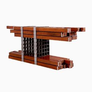 Aparador Simbiótico de madera de Mameluca Studio, Brazil, 2016