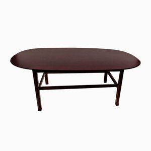 Large Italian Mahogany Low Coffee Table by Ico Luisa Parisi, 1950s