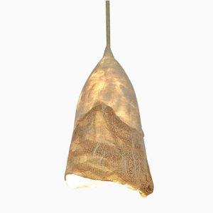 Untitled Silk and Felted Wool Hanging Lamp by Inês Schertel, Brasil, 2019