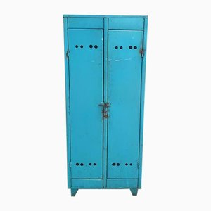 Industrial Blue 2-Door Wardrobe, 1960s