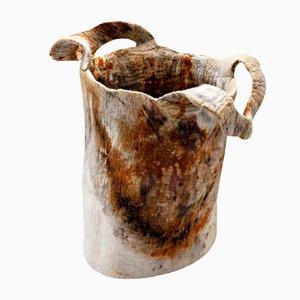 Natürlich Gefärbte Gracioso Vase aus Wolle von Inês Schertel, 2020