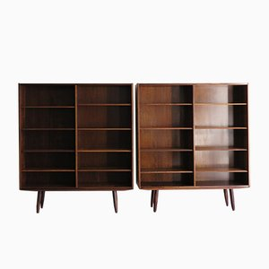 Rosewood Bookcases by Poul Hundevad for Hundevad & Co., 1960s, Set of 2
