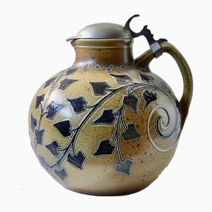 Art Nouveau Stoneware Jug by Richard Riemerschmid for Merkelbach, 1989