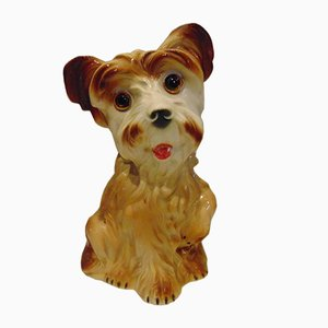 Porcelain Figure of a Dog from Lippelsdorf, 1970s