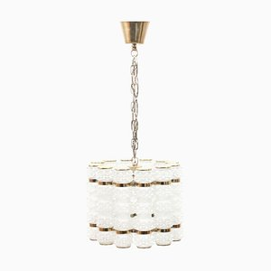 Brass & Glass Ceiling Lamp from Tyringe Konsthantverk, 1960s