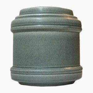 Dänische Vase aus Staubblauem Keramik von Einar Johansen, 1960er