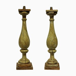 Large 19th Century Balustrade Lamps, Set of 2