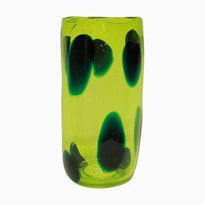 Luminescent Yellow Glass Vase, 1997