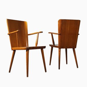 Swedish Carpenter Chair by Goran Malmvall for Svensk Fur, 1940s