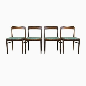 Danish Modern Teak Dining Chairs, 1960s, Set of 4