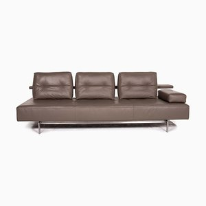 Dark Brown Leather Dono 3-Seat Sofa from Rolf Benz