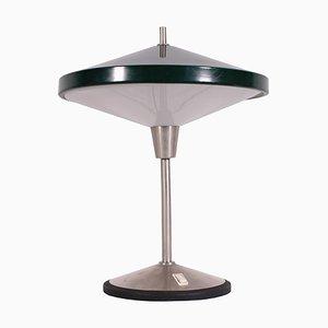 Lampada da tavolo in alluminio e metallo, Italia, anni '60
