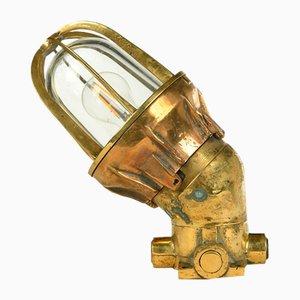 Vintage Messing Boot Wandlampe
