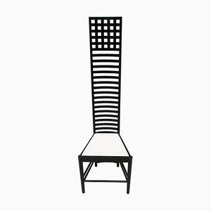 Chaise à Dossier Haut Hill par Charles Rennie Mackintosh pour Cassina, 1973