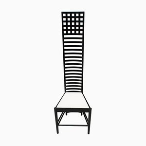 Hill High Back Chair by Charles Rennie Mackintosh for Cassina, 1973