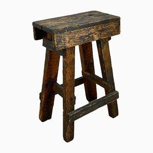 Vintage Industrial Wooden Stool