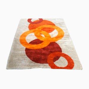 Mid-Century Modern Italian Circle Geometric Carpet, 1970s