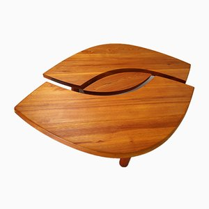 Large French T22C L'oeuil Coffee Table in Solid Elm by Pierre Chapo, 1971