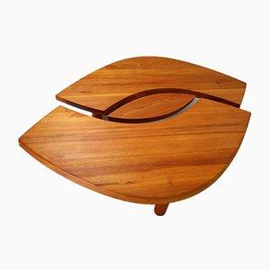Tavolino da caffè T22C L'oeu in olmo massiccio di Pierre Chapo, Francia, 1971