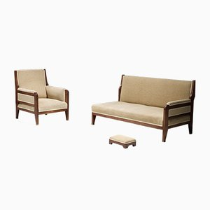 Mahogany Opus 38 Living Room Set by H.P. Berlage for t Binnenhuis, the Netherlands, 1920s, Set of 3