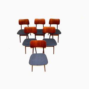 Sedie da pranzo in teak di Ib Kofod Larsen, Danimarca, anni '60, set di 6