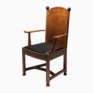 Armchair in Oak and Ebony from Metz & Co, 1920s