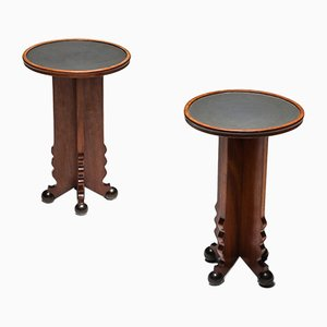 Amsterdam School Side Tables, 1920s, Set of 2
