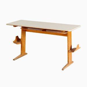 Deutscher Schulpult mit Grauer Tischplatte, 1960er