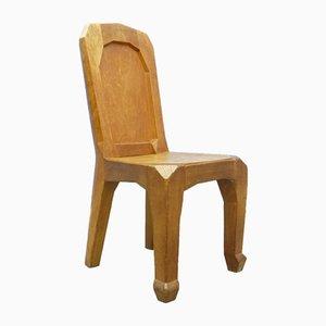 Handgefertigter anthroposophischer Stuhl von Ernst Aisenpreis, 1930er